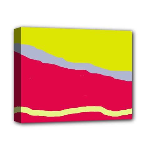 Red And Yellow Design Deluxe Canvas 14  X 11  by Valentinaart