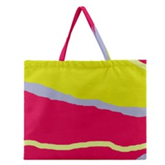 Red And Yellow Design Zipper Large Tote Bag by Valentinaart
