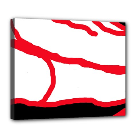 Red, Black And White Design Deluxe Canvas 24  X 20   by Valentinaart