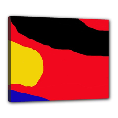 Colorful Abstraction Canvas 20  X 16  by Valentinaart