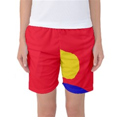 Colorful abstraction Women s Basketball Shorts by Valentinaart