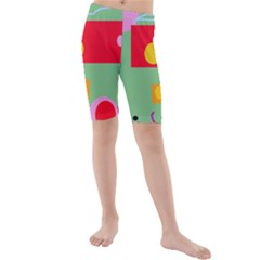 Optimistic Abstraction Kid s Mid Length Swim Shorts by Valentinaart