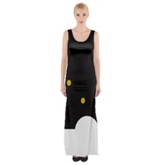 Abstract Design Maxi Thigh Split Dress by Valentinaart