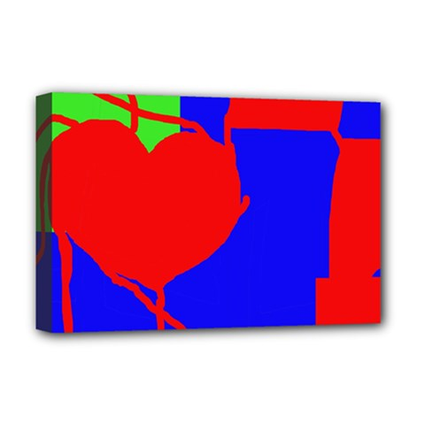 Abstract Hart Deluxe Canvas 18  X 12   by Valentinaart