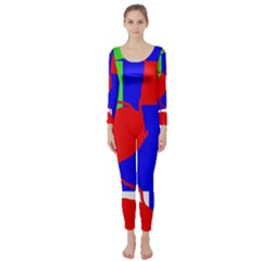Abstract Hart Long Sleeve Catsuit by Valentinaart