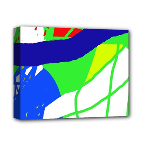 Colorful Abstraction Deluxe Canvas 14  X 11  by Valentinaart