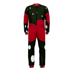 Red, black and white abstraction OnePiece Jumpsuit (Kids) by Valentinaart