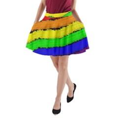 Rainbow A Line Pocket Skirt by Valentinaart