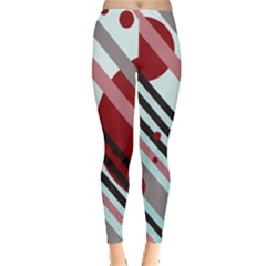 Colorful Lines And Circles Leggings  by Valentinaart