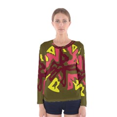 Abstraction Women s Long Sleeve Tee by Valentinaart