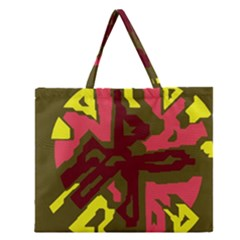 Abstraction Zipper Large Tote Bag by Valentinaart