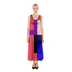 Colorful Abstraction Sleeveless Maxi Dress by Valentinaart