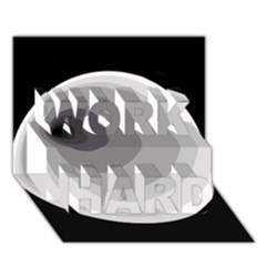 Gray Abstraction Work Hard 3d Greeting Card (7x5)  by Valentinaart