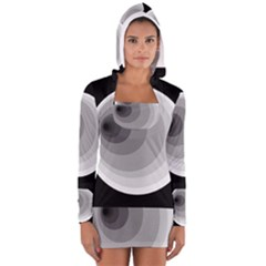 Gray Abstraction Women s Long Sleeve Hooded T Shirt by Valentinaart