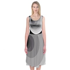 Gray Abstraction Midi Sleeveless Dress by Valentinaart