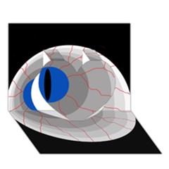 Blue Eye Heart 3d Greeting Card (7x5)  by Valentinaart
