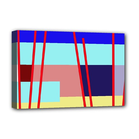Abstract Landscape Deluxe Canvas 18  X 12   by Valentinaart