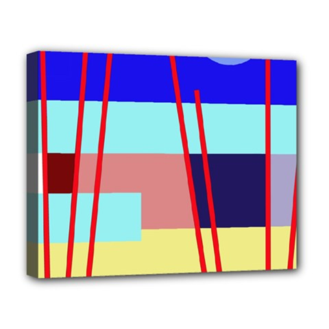 Abstract Landscape Deluxe Canvas 20  X 16   by Valentinaart