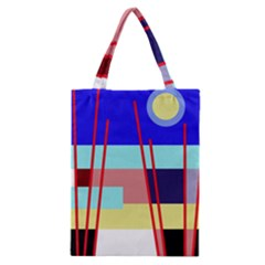 Abstract Landscape Classic Tote Bag by Valentinaart