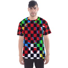 Colorful Abstraction Men s Sport Mesh Tee by Valentinaart