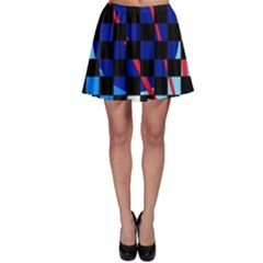 Blue Abstraction Skater Skirt by Valentinaart