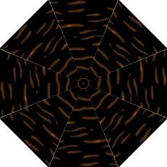 Orange And Black Hook Handle Umbrellas (large) by Valentinaart