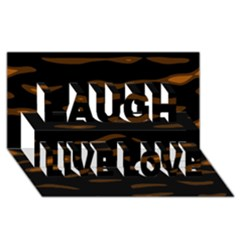 Orange And Black Laugh Live Love 3d Greeting Card (8x4)  by Valentinaart