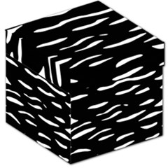 Black And White Storage Stool 12   by Valentinaart