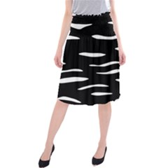 Black And White Midi Beach Skirt by Valentinaart