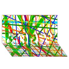 Colorful Lines Sorry 3d Greeting Card (8x4)  by Valentinaart