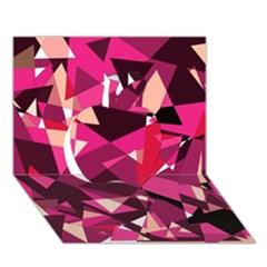Red Broken Glass Apple 3d Greeting Card (7x5)  by Valentinaart