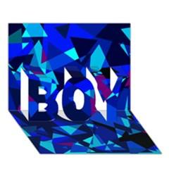 Blue Broken Glass Boy 3d Greeting Card (7x5) by Valentinaart