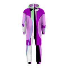 Purple Geometric Design Hooded Jumpsuit (kids)