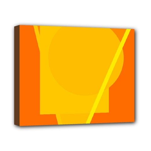 Orange Abstract Design Canvas 10  X 8  by Valentinaart
