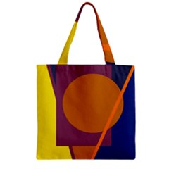 Geometric Abstract Desing Zipper Grocery Tote Bag by Valentinaart