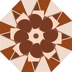 Brown Geometric Design Folding Umbrellas by Valentinaart