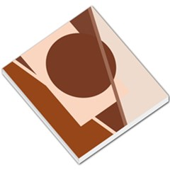 Brown geometric design Small Memo Pads