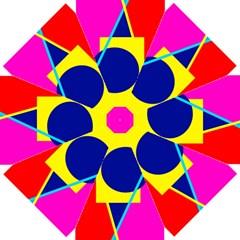 Colorful Geometric Design Straight Umbrellas by Valentinaart