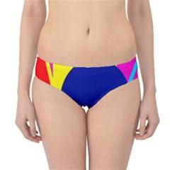 Colorful Geometric Design Hipster Bikini Bottoms