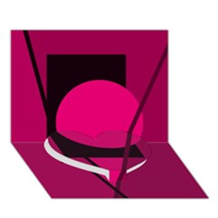 Decorative Geometric Design Heart Bottom 3d Greeting Card (7x5)  by Valentinaart