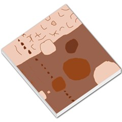Brown Abstract Design Small Memo Pads by Valentinaart