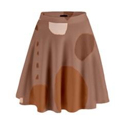 Brown Abstract Design High Waist Skirt by Valentinaart