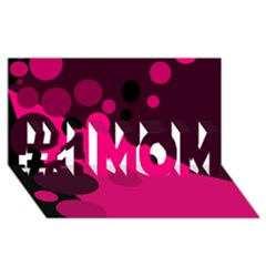 Pink Dots #1 Mom 3d Greeting Cards (8x4)
