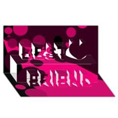 Pink Dots Best Friends 3d Greeting Card (8x4)  by Valentinaart