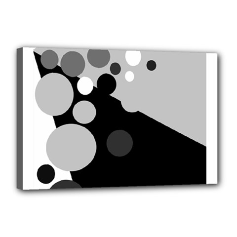 Gray Decorative Dots Canvas 18  X 12  by Valentinaart