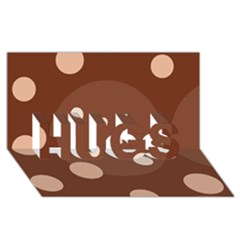Brown Abstract Design Hugs 3d Greeting Card (8x4)  by Valentinaart