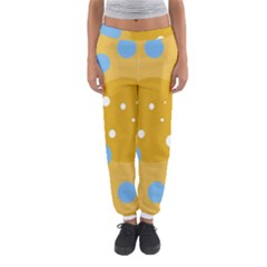 Blue And Yellow Moon Women s Jogger Sweatpants
