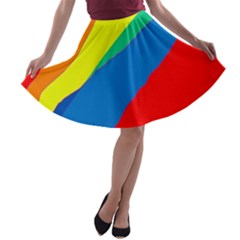 Colorful Abstract Design A Line Skater Skirt by Valentinaart