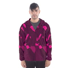 Abstract Design Hooded Wind Breaker (men) by Valentinaart