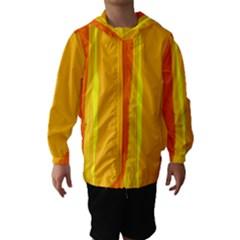 Yellow and orange lines Hooded Wind Breaker (Kids) by Valentinaart